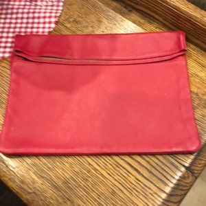 Handbags - Red leather clutch